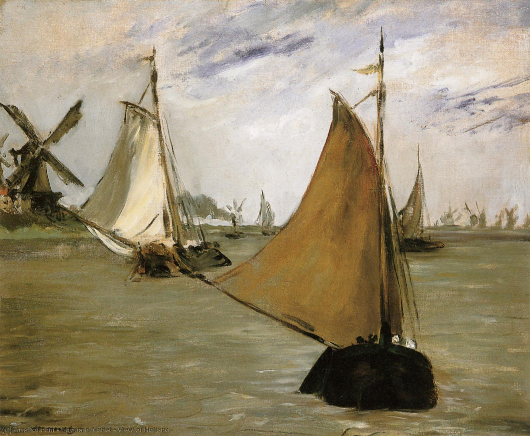View of Holland, 1872 by Edouard Manet (1832-1883, France) | Oil Painting | ArtsDot.com