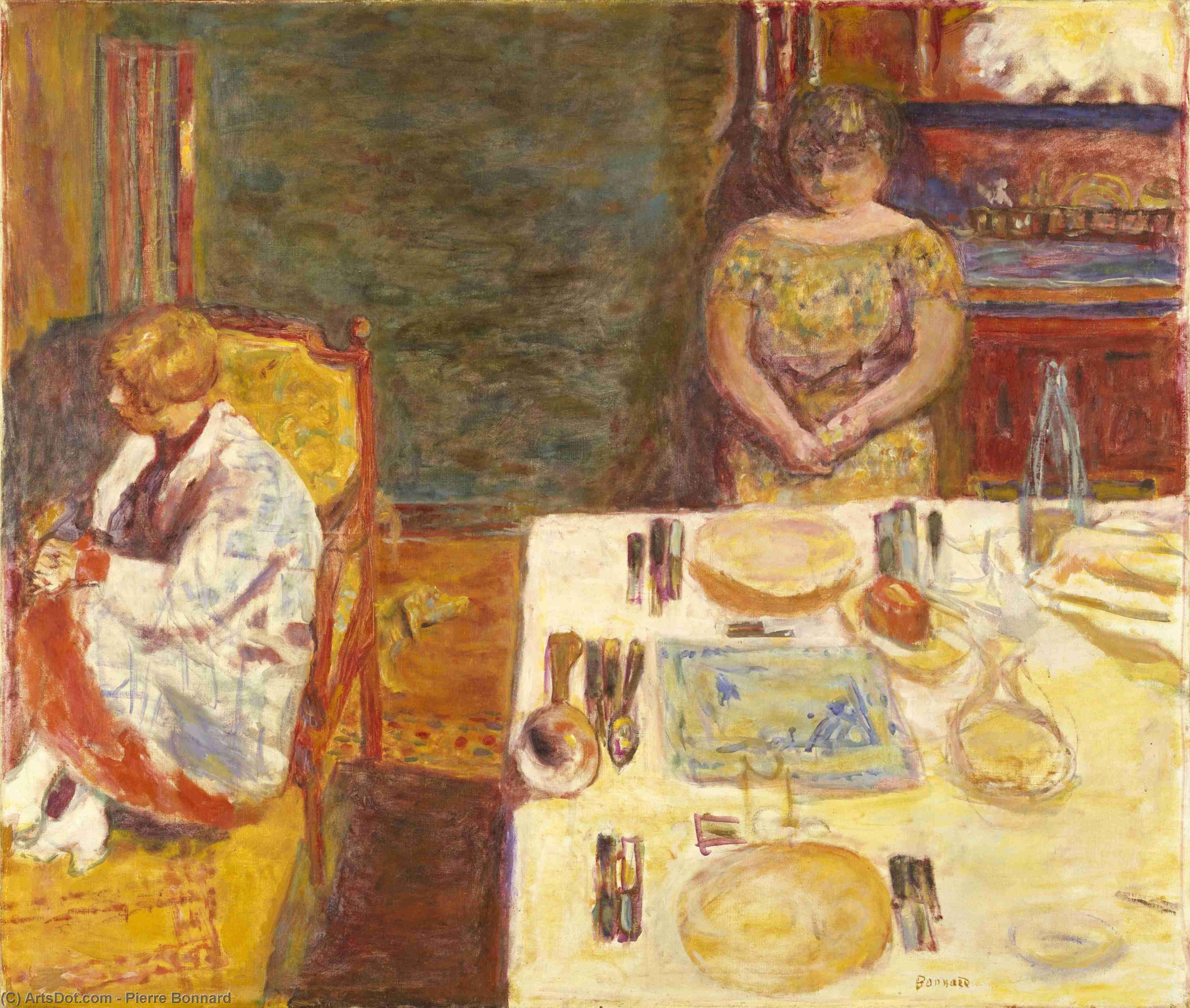 Le repas préparé - Albert Samain Pierre_bonnard-before_dinner