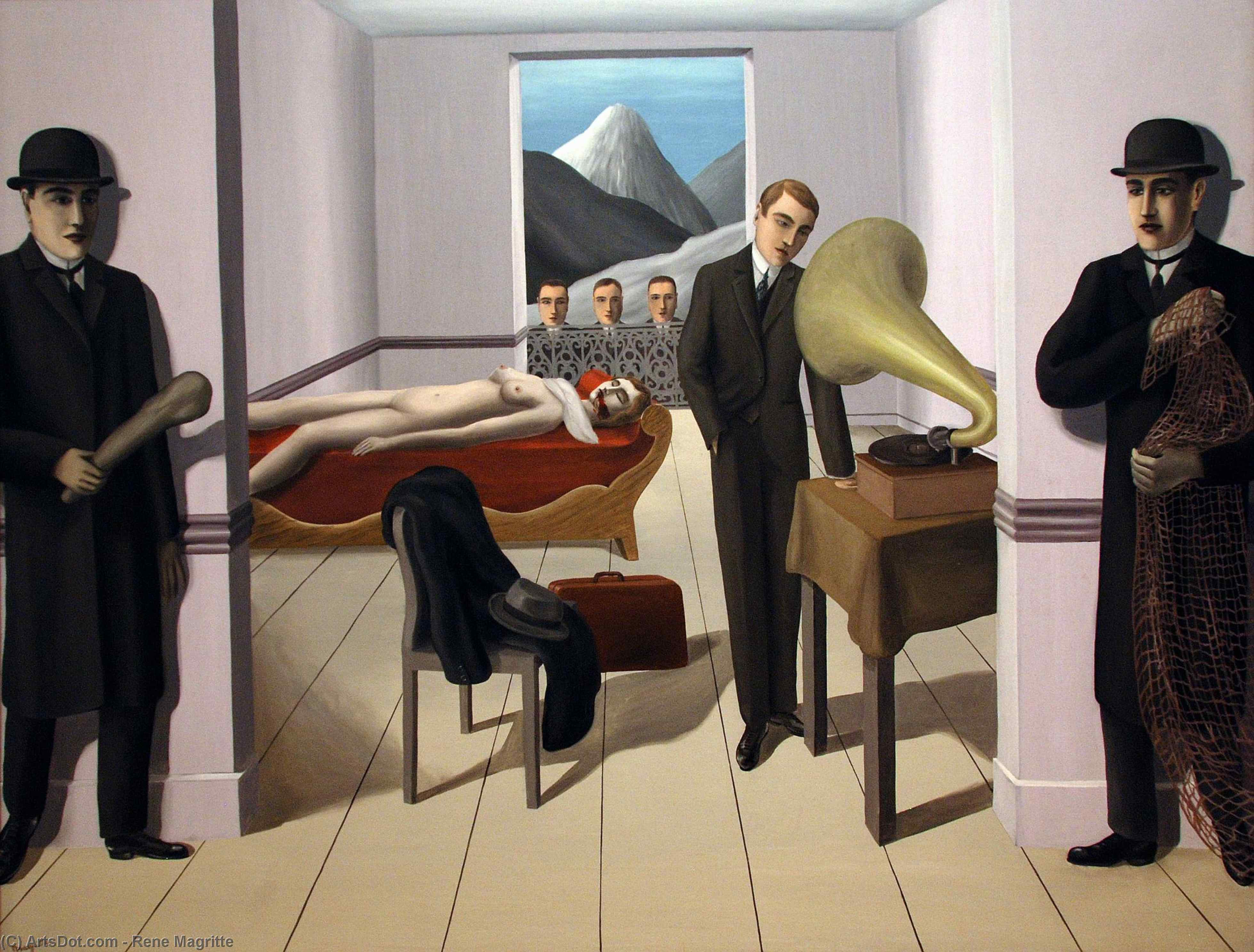 The Menaced Assassin, 1927 by Rene Magritte (1898-1967, Belgium) | Museum Quality Reproductions | ArtsDot.com