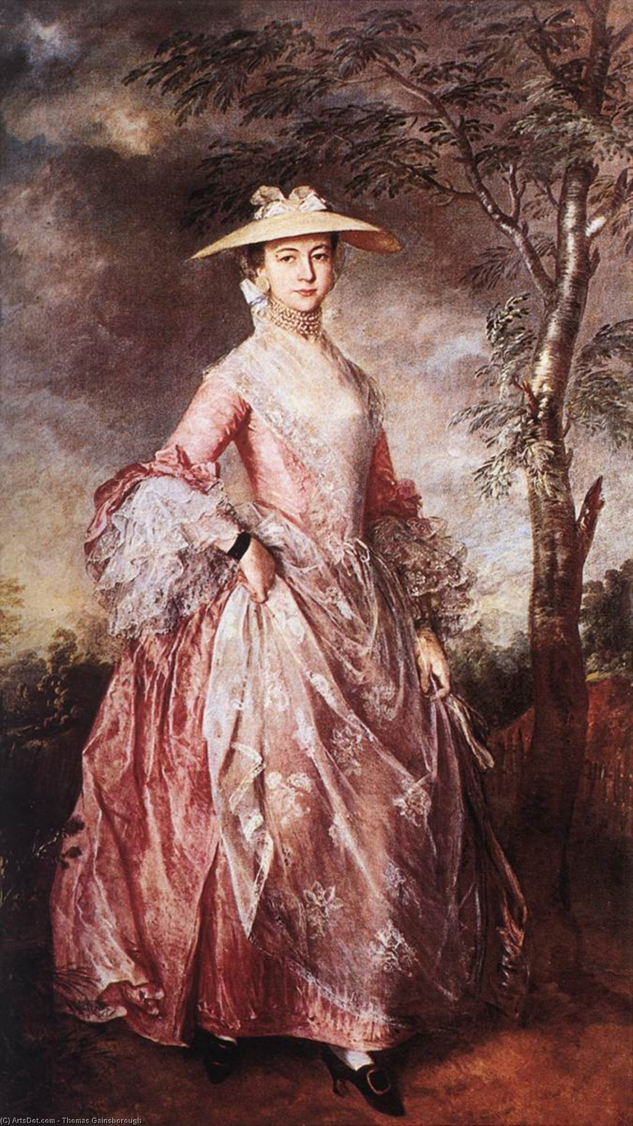 Countess Howe Thomas Gainsborough Art Poster Mary