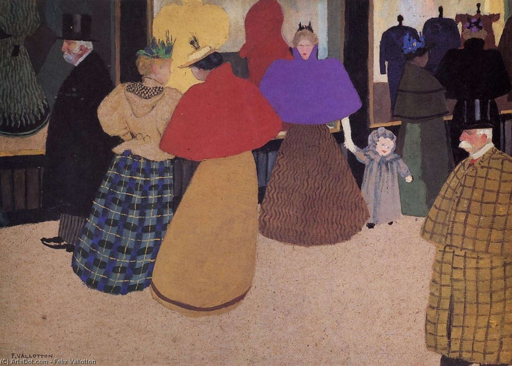 Passerby (also known as Street Scene), 1897 by Felix Vallotton (1865-1925, Switzerland) | Oil Painting | ArtsDot.com