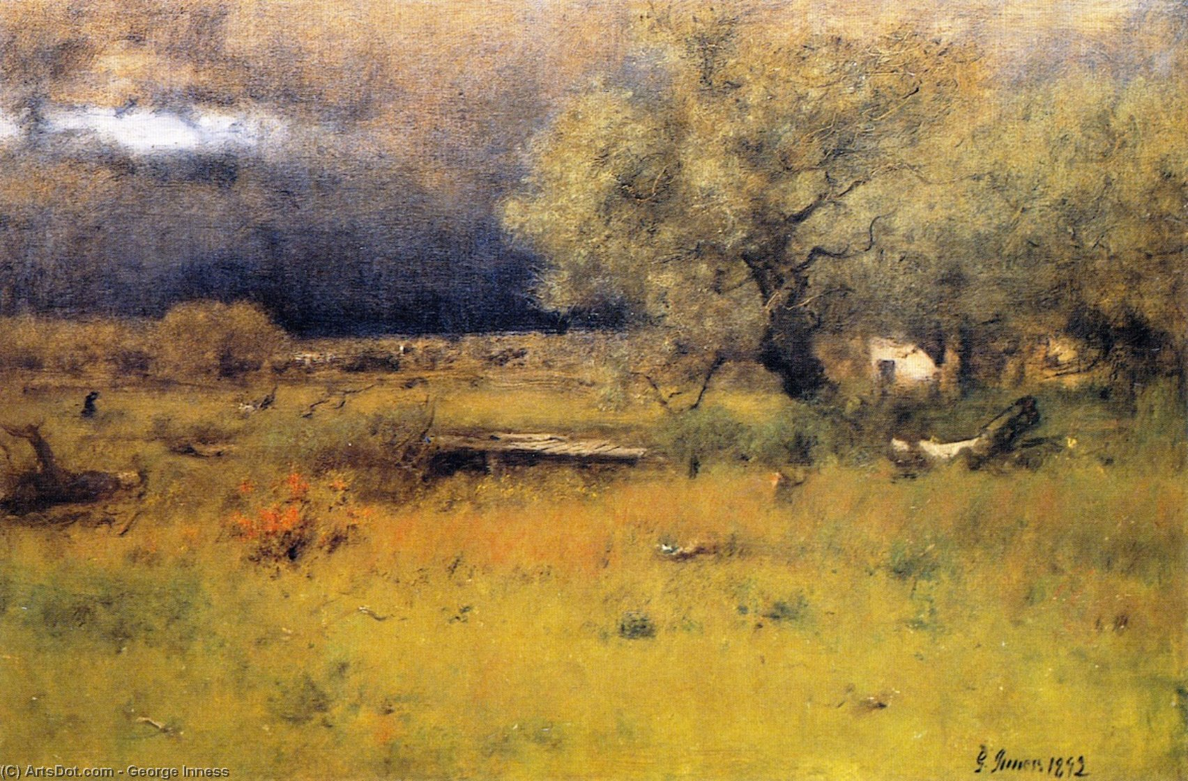 george inness early moonrise - 1063×700