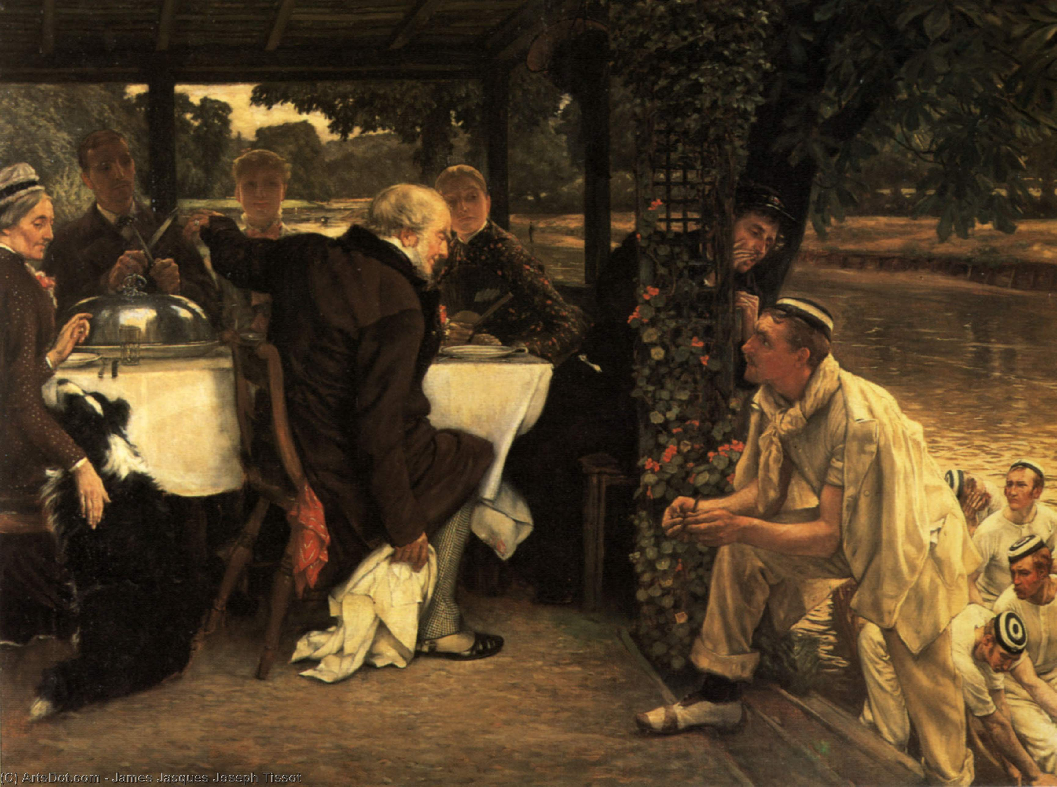 the prodigal son the fatted calf by James Jacques Joseph Tissot (1836-1902, France) | Museum Art Reproductions | ArtsDot.com