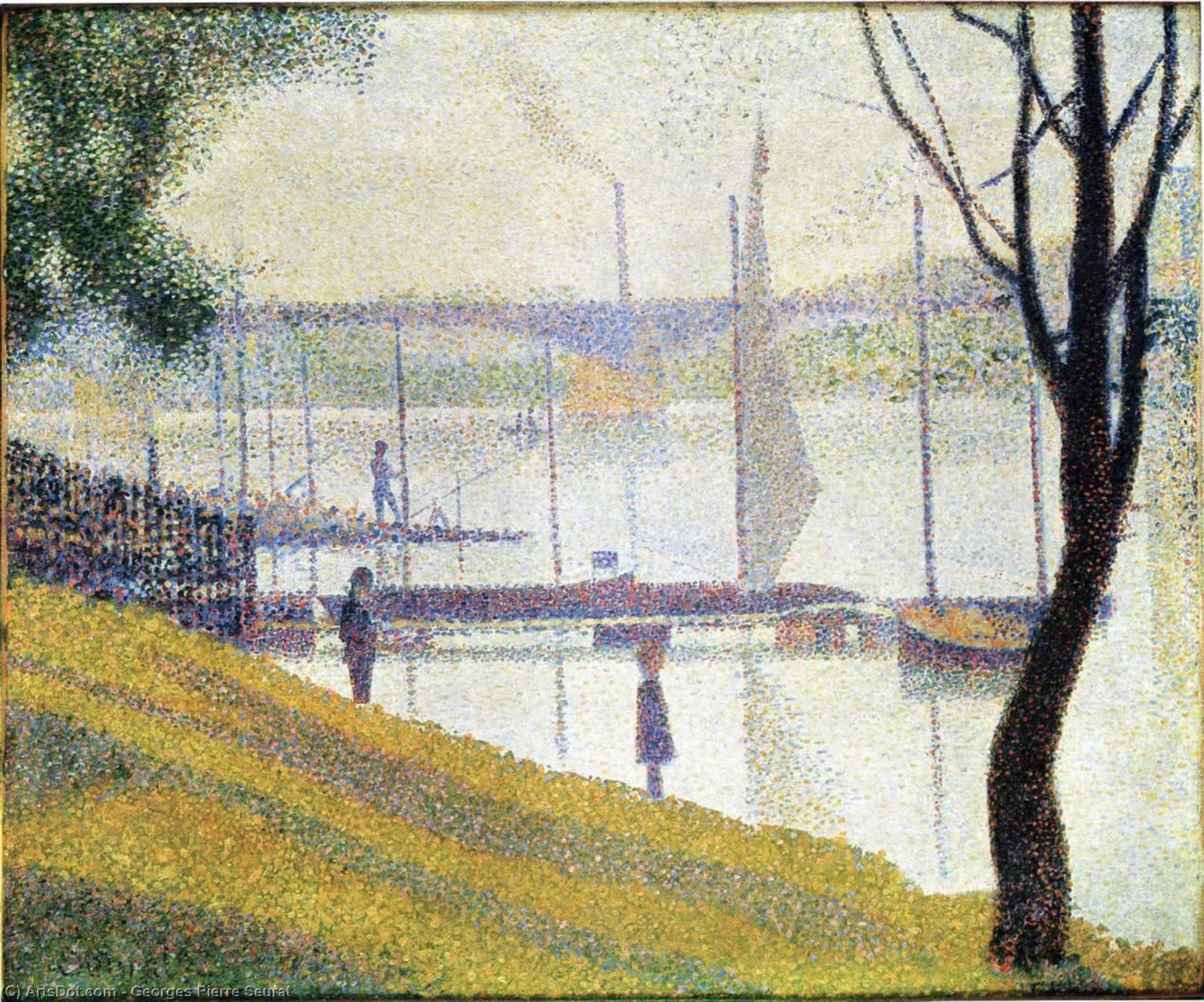 untitled (7518) by Georges Pierre Seurat (1859-1891, France) | Museum Art Reproductions Georges Pierre Seurat | ArtsDot.com