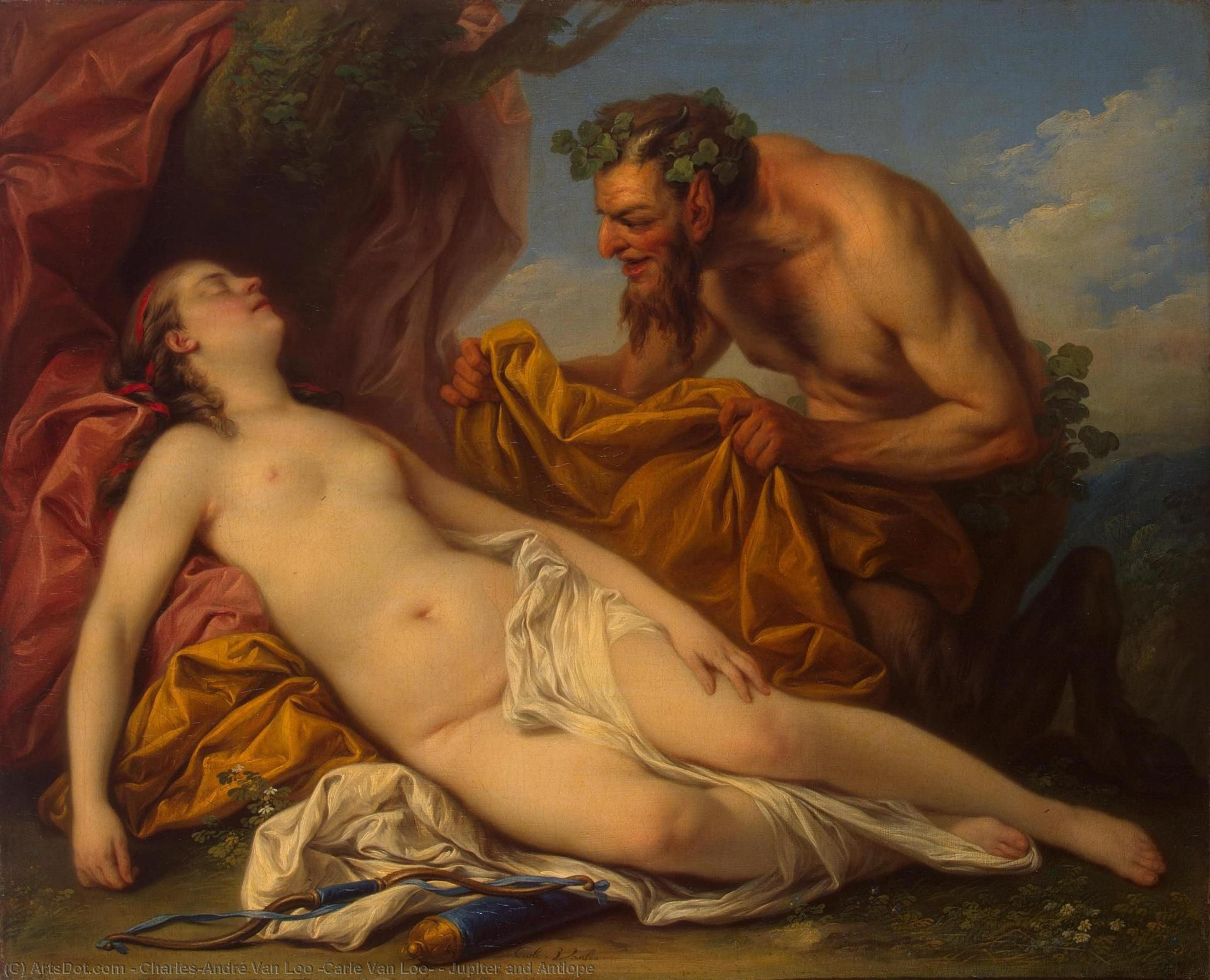 Jupiter and Antiope, 1753 by Charles-André Van Loo (Carle Van Loo) (1705-1765, France) | Museum Quality Reproductions | ArtsDot.com