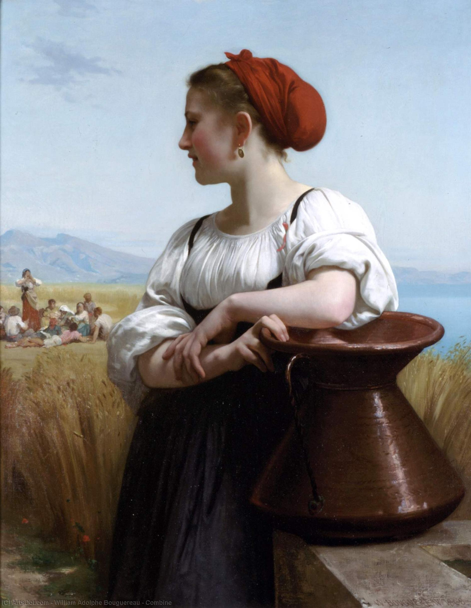 Combine by William Adolphe Bouguereau (1825-1905, France) | Painting Copy | ArtsDot.com
