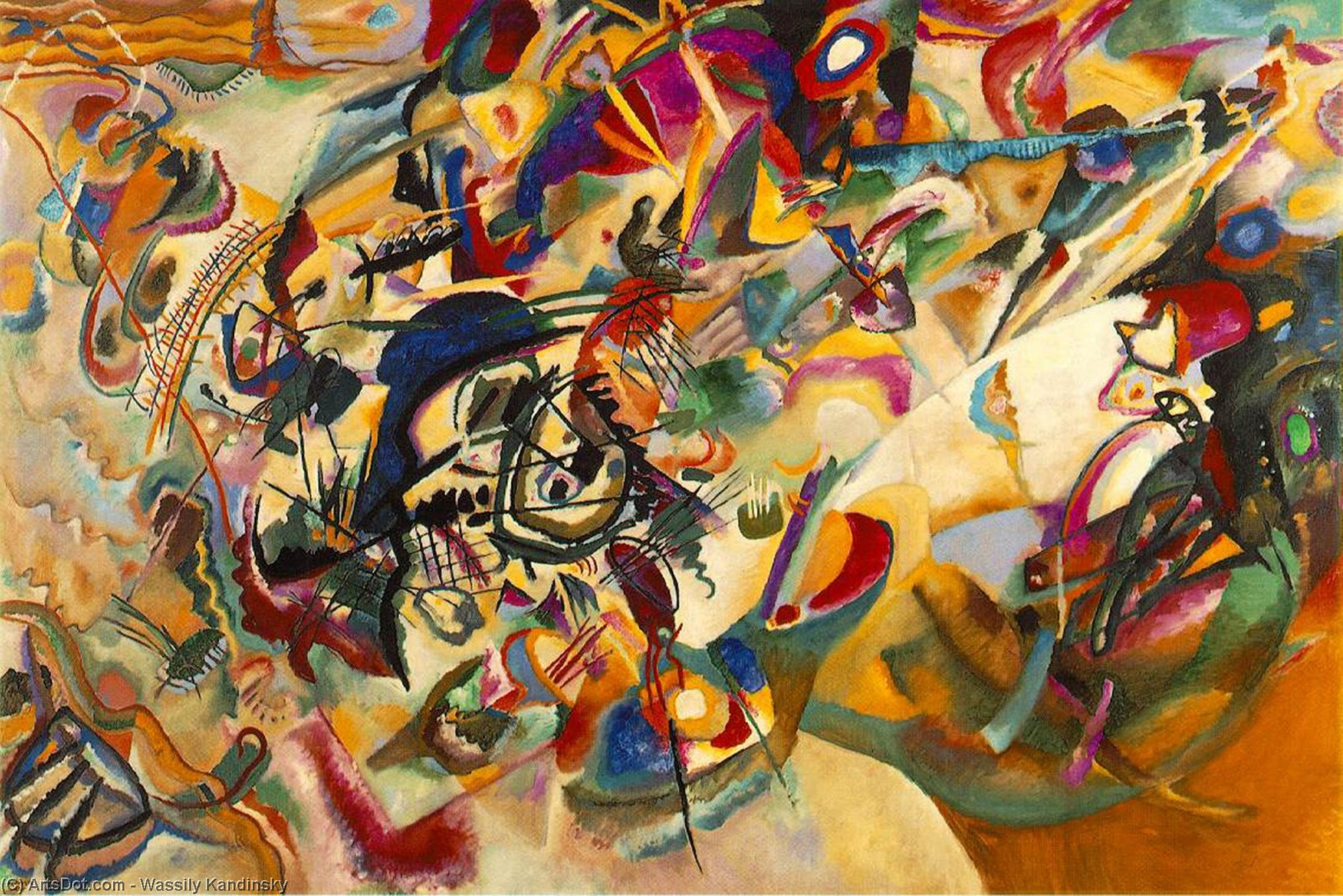 Composition VII, 1913 by Wassily Kandinsky (1866-1944, Russia) | Museum Art Reproductions Wassily Kandinsky | ArtsDot.com