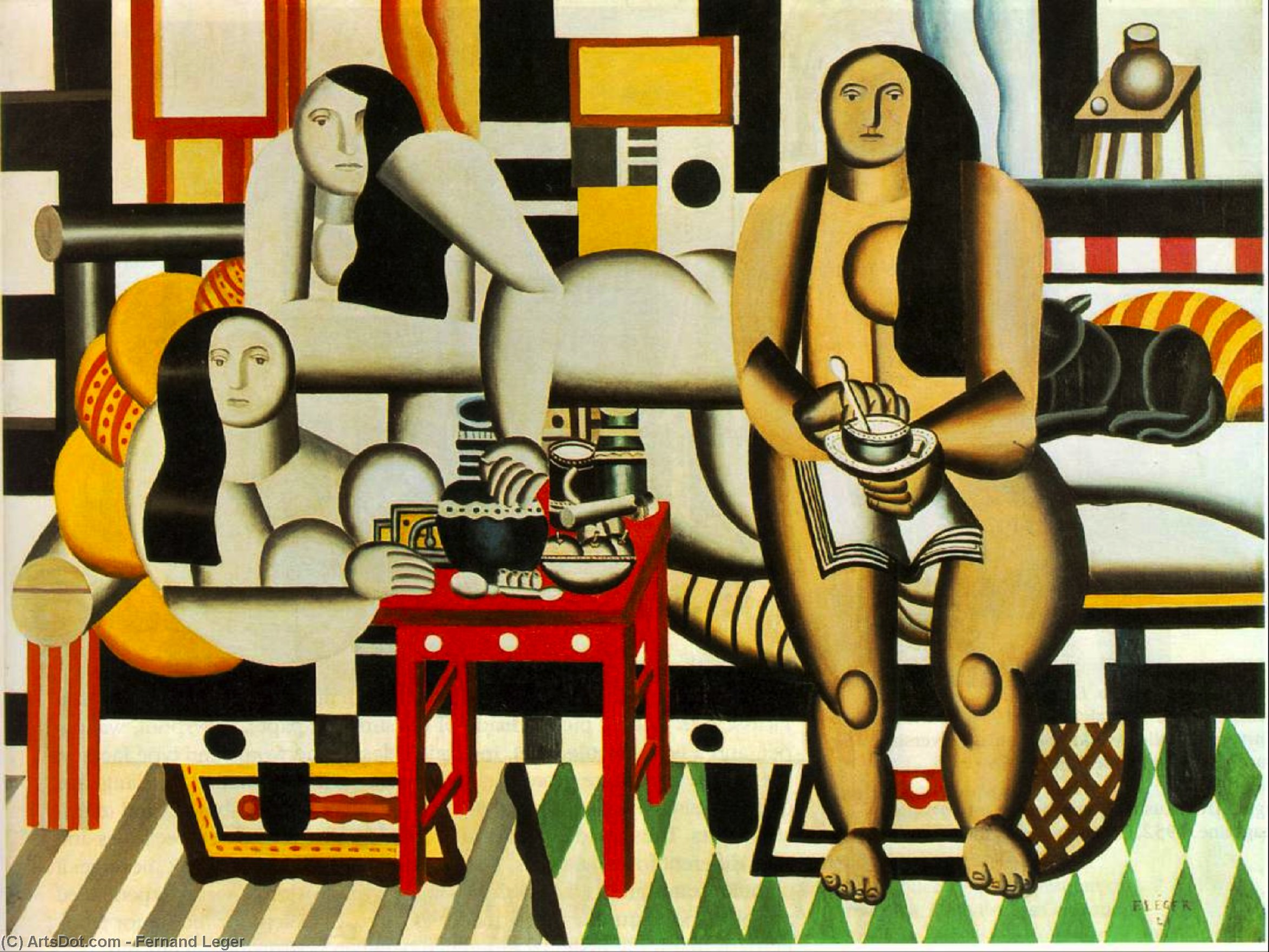 Three Women, 1921 by Fernand Leger (1881-1955, France) | Museum Quality Reproductions | ArtsDot.com