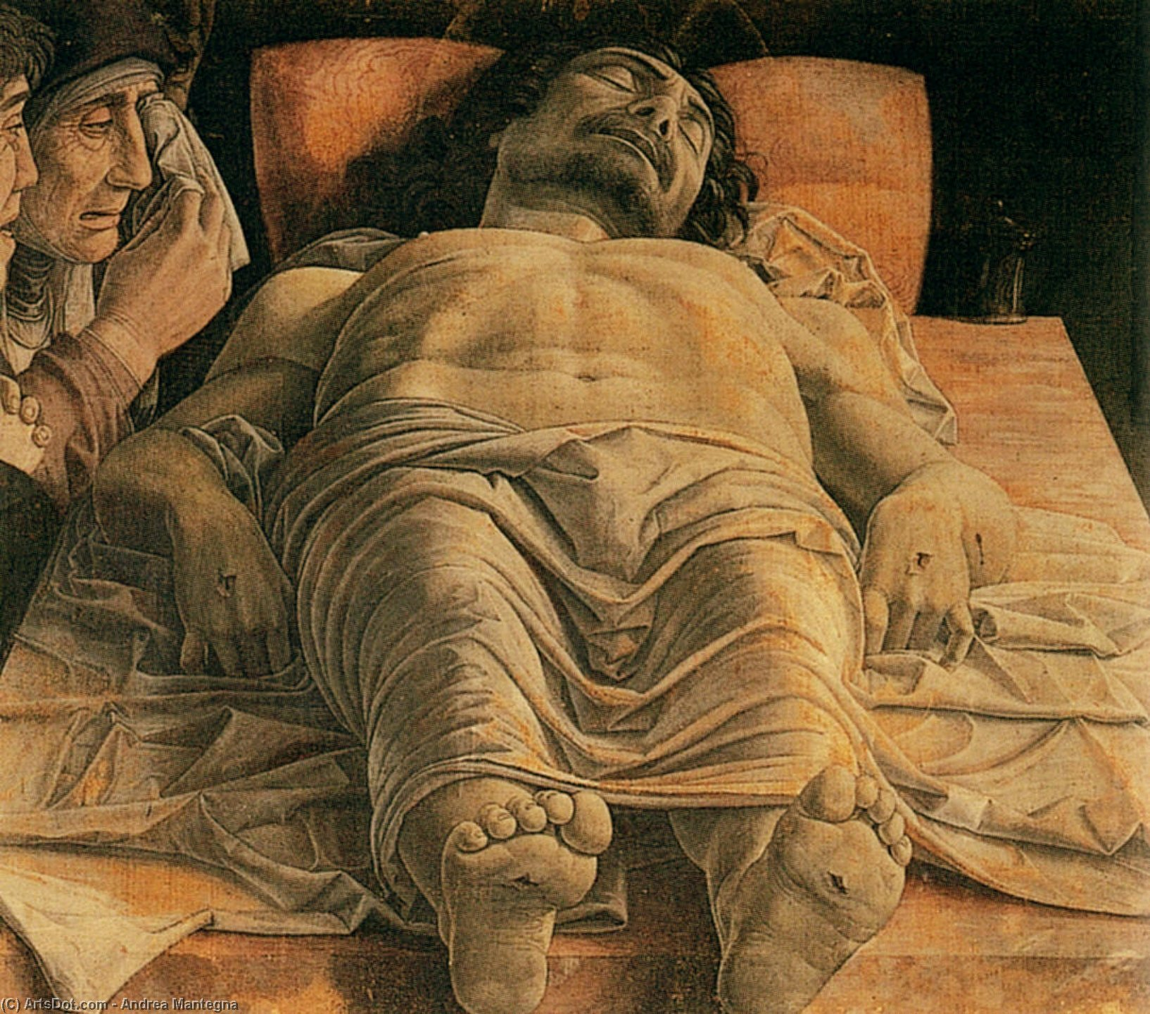The Lamentation over the Dead Christ, 1480 by Andrea Mantegna (1431-1506, Italy) | Museum Quality Copies Andrea Mantegna | ArtsDot.com