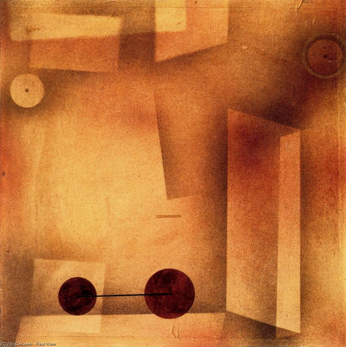 The Invention by Paul Klee (1879-1940, Switzerland) | Museum Art Reproductions Paul Klee | ArtsDot.com