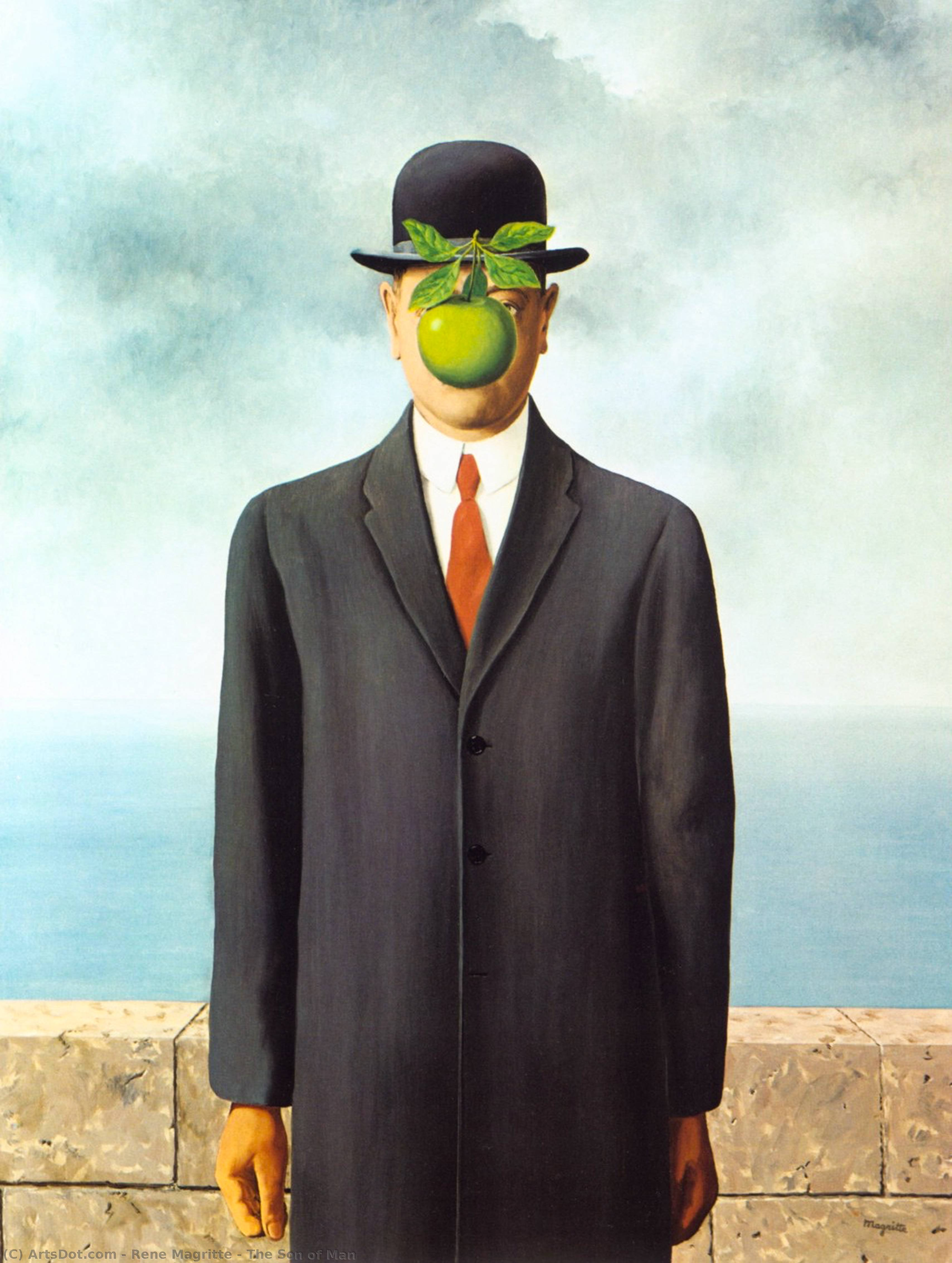 The Son of Man, Oil On Canvas by Rene Magritte (1898-1967, Belgium)