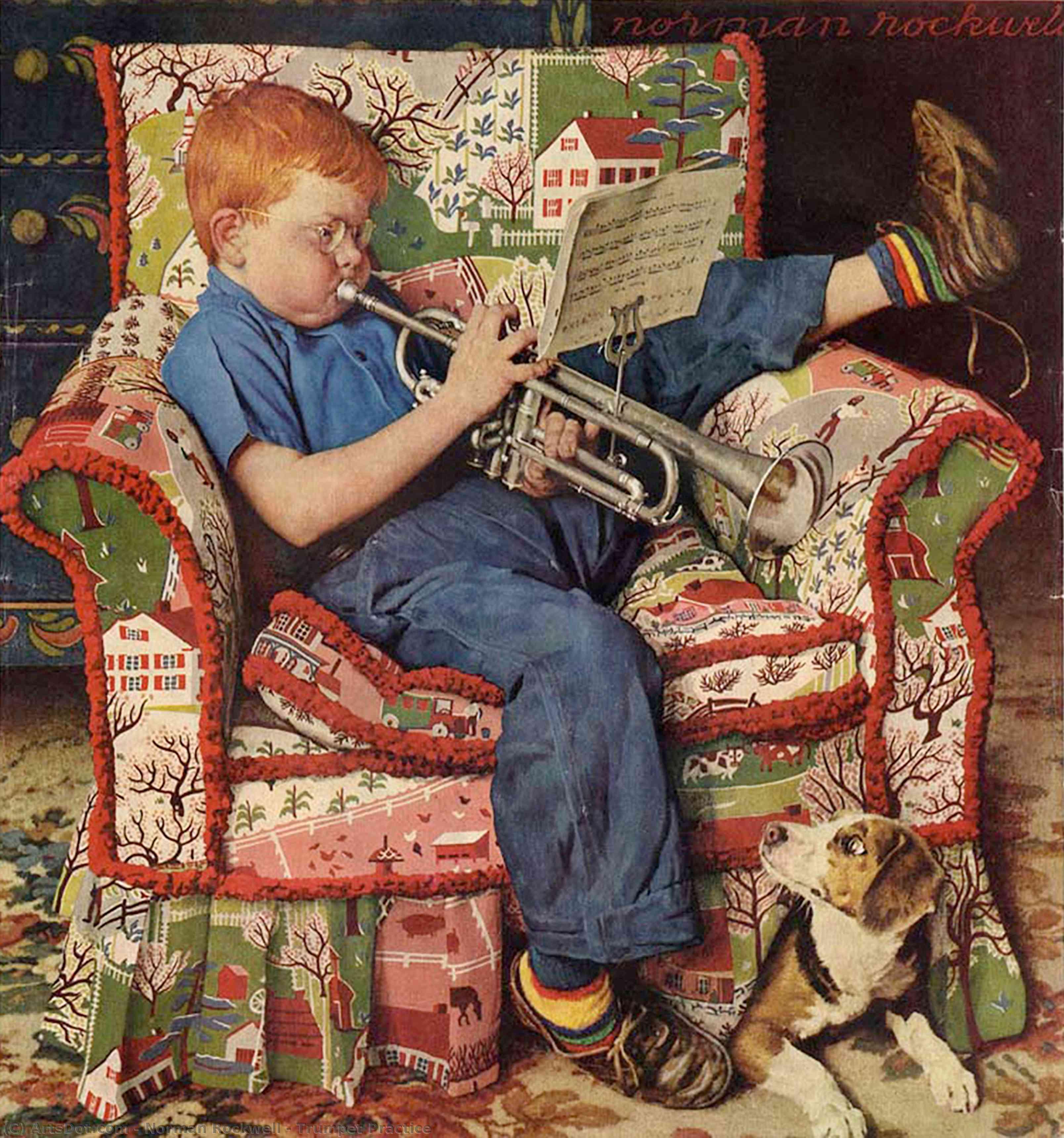 Открытка мальчик музыкант, рождеством для