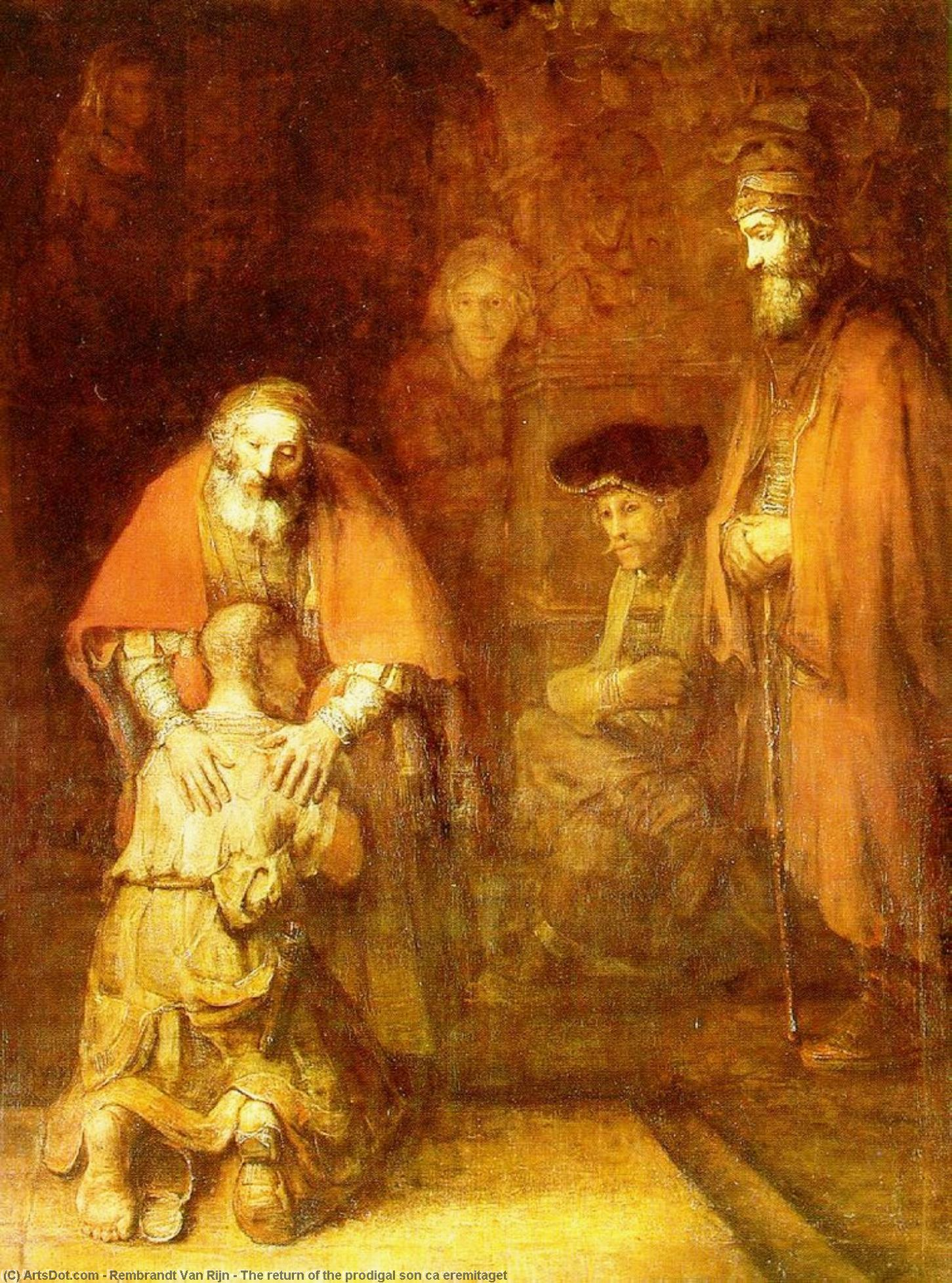 The return of the prodigal son ca eremitaget, 1662 by Rembrandt Van Rijn (1606-1669, Netherlands) | Museum Quality Reproductions | ArtsDot.com