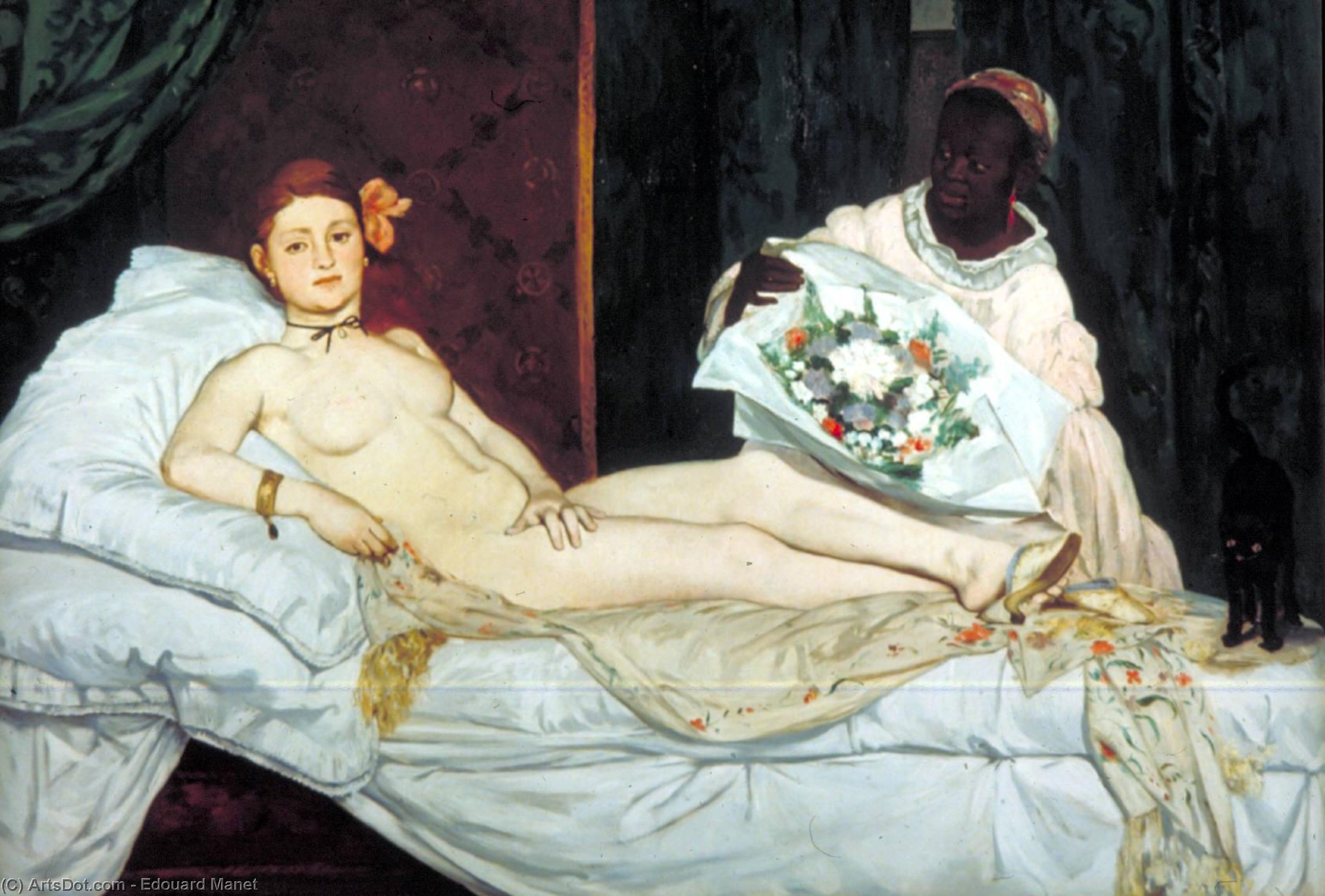 Olympia, Musee d'Orsay, Paris, Oil On Canvas by Edouard Manet (1832-1883, France)
