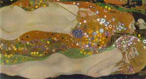 Gustav Klimt - Water Serpents II (Bewegt..