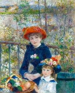 Pierre-Auguste Renoir - Two Sisters (On the Terra..