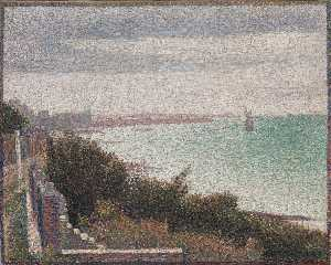 Georges Pierre Seurat - Evening, Honfleur, 1886