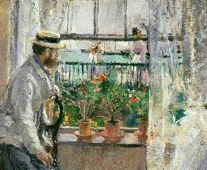 Berthe Morisot - Eugene Manet on the Isle ..
