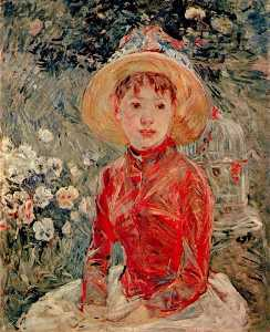 Berthe Morisot - The Red Jacket. Mlle Isab..