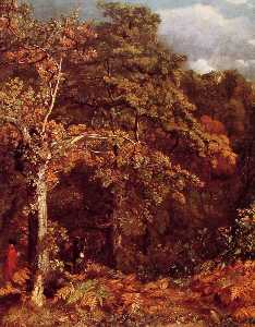 John Constable - Wooded Landscape