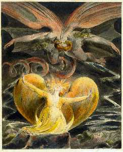 William Blake - The Great Red Dragon and ..