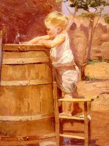 Correa Benito Rebolledo - A Boy At A Water Barrel