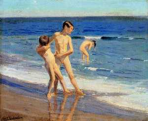 Correa Benito Rebolledo - Boys At The Beach