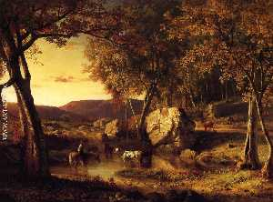 George Inness - Summer Days, Cattle Drink..