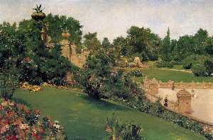 William Merritt Chase - Terrace at the Mall, Cent..