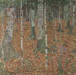 Gustav Klimt - Birch Forest, 1903 - Vien..