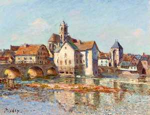 Alfred Sisley - The Moret Bridge