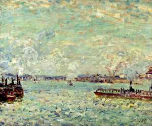 Alfred Sisley - The Seine at Point du Jou..