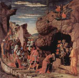 Andrea Mantegna - Adoration of the three ki..