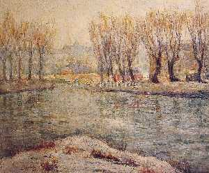 Ernest Lawson - End of Winter - The Boath..
