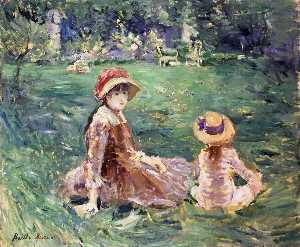 Berthe Morisot - In the Garden at Maurecou..