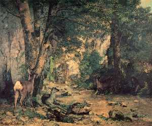 Gustave Courbet - The River Plaisir Fontain..