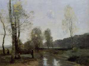 Jean Baptiste Camille Corot - Canal in Picardi