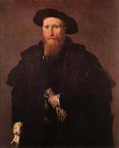 Lorenzo Lotto - Gentleman with Gloves