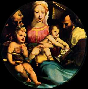 Domenico Di Pace Beccafum.. - Holy Family with St. John..