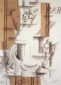 Georges Braque - Fruitdish and Glass