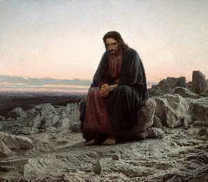 Ivan Nikolaevich Kramskoy - Christ in the Desert