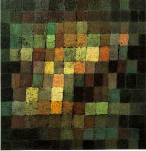 Paul Klee - Ancient Sound, Abstract on Bla..