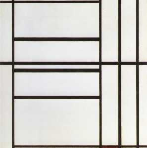 Piet Mondrian - Composition No. 1 with Gr..