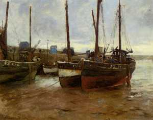 Stanhope Alexander Forbes - Boats at Anchor