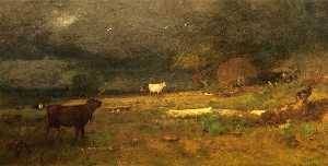 George Inness - The Coming Storm (also kn..
