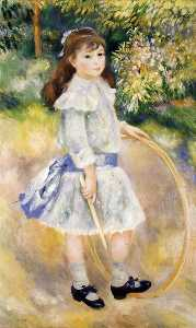 Pierre-Auguste Renoir - Girl with a Hoop