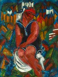Raoul Dufy - Large Bather
