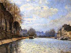 Alfred Sisley - The Saint Martin Canal in..