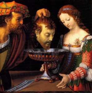 Andrea Solario - Salome with the head of J..