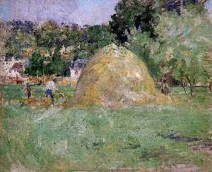 Berthe Morisot - Haystacks at Bougival